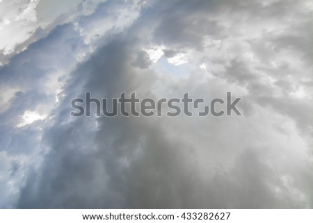 Gloomy clouds have shrouded sky before a thunderstorm - stock photo