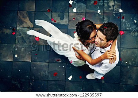 glorious wedding in Bali - stock photo