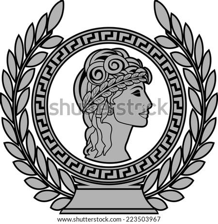glory of ancient greek woman 2. raster version - stock photo