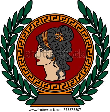 glory of roman woman 3. raster version - stock photo