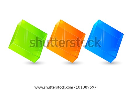 Glossy blank web internet button - stock photo