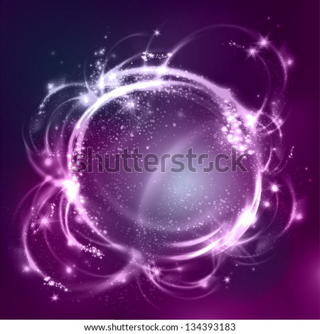 Glossy bubbles. Abstract background. Raster version of vector. - stock photo