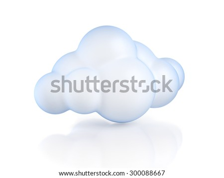 Glossy cartoon cloud - stock photo