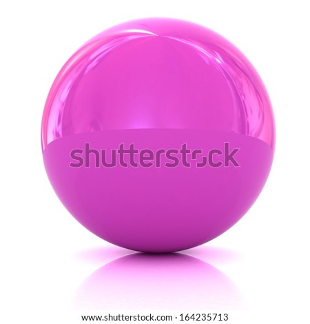 Glossy pink sphere - stock photo