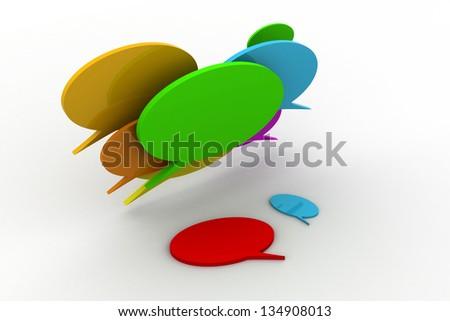 Glossy speech bubbles - stock photo