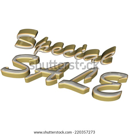 Glossy three-dimensional inscription Special Sale as a sign. - stock photo