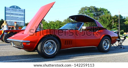 GLOUCESTER, VA- JUNE 14:An old Stingray in the 11th Annual 2013 MPCC(middle peninsula car club)meeting at the Main St shopping center in Gloucester, Virginia on June 14, 2013 - stock photo