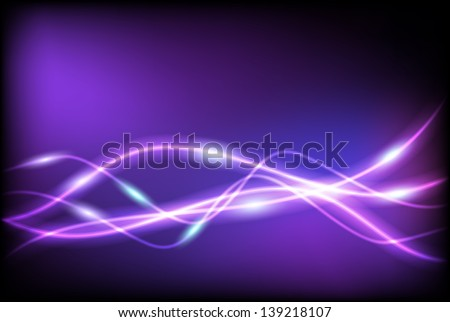 Glowing background with wave lines - stock photo