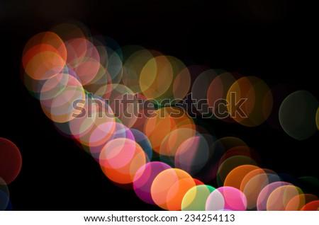 Glowing Christmas lights background - stock photo