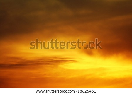 Glowing dusk sky - stock photo