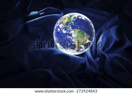 Glowing Earth Some components of this montage are provided courtesy of NASA - stock photo