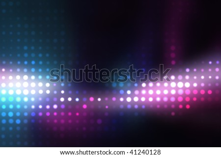 Glowing halftone dots in rows. A funky and modern looking background texture. - stock photo