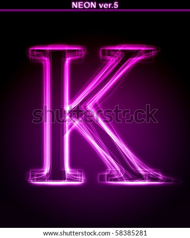 K Letter Images In Pink Stock Images similar to ID 114508642 - vector design light effect...