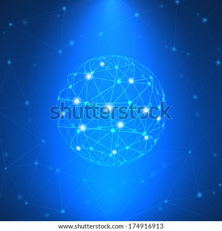Glowing network sign  illustration - stock photo