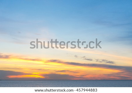 Glowing Paradise Magnificent View  - stock photo