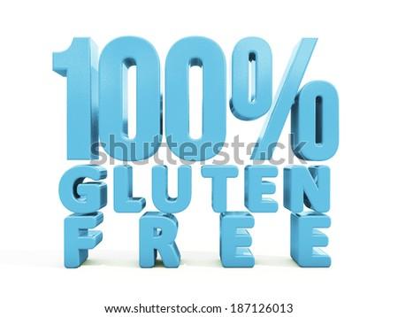 Gluten Free icon on a white background. 3D illustration - stock photo