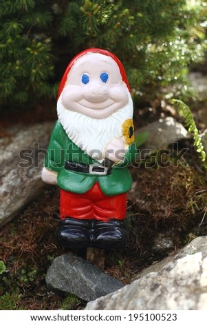 Gnome with beard - stock photo
