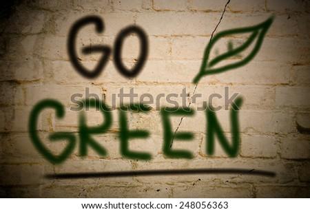 Go Green Concept - stock photo