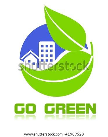 Go green icon - stock photo