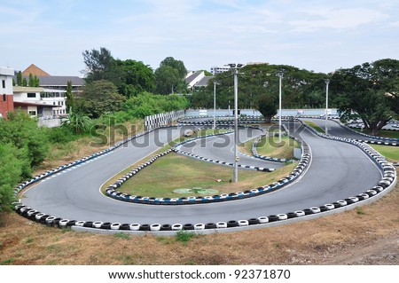 Go Kart Racecourse - stock photo