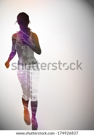 Go run! Sport invitation poster or flyer background with space - stock photo