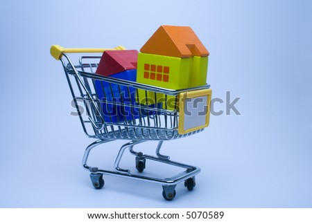go to the market to buy houses - stock photo