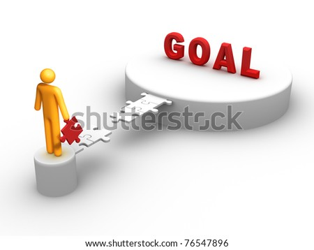 Goal. - stock photo