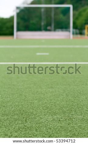 goal on sports field - stock photo