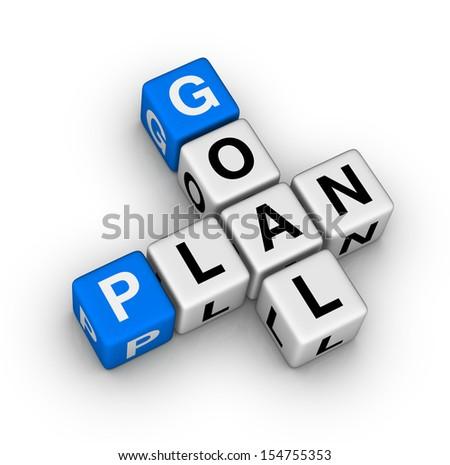 goal plan - stock photo