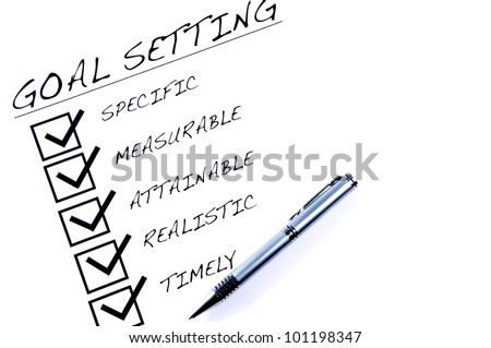 Goal Setting - stock photo