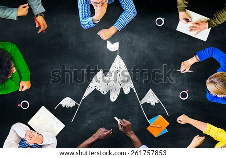 Goal Target Success Aspiration Aim Conquering Concept - stock photo