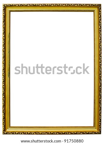 Goal wooden Photo frames isolated. - stock photo