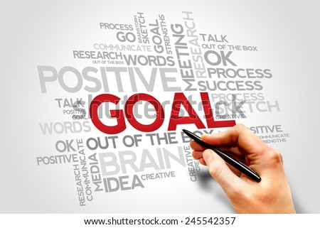 Goal words cloud, business concept  - stock photo