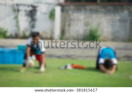Goalkeeper in action playing football,Stretching (soccer) - stock photo