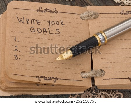 Goals Definition, Concept of Successful Business - stock photo