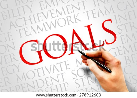Goals word cloud, business concept - stock photo