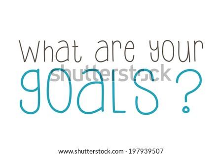 GOALS - written concept - stock photo