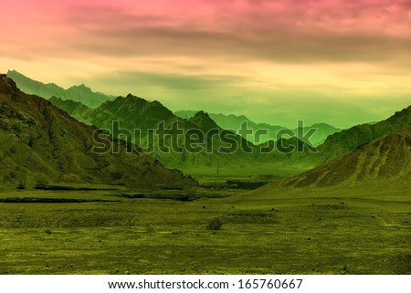 Gobi desert - stock photo