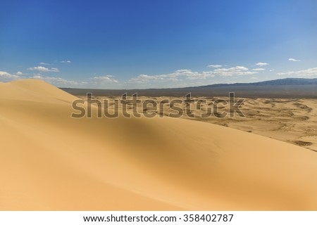 Gobi Desert Sand Dunes - stock photo
