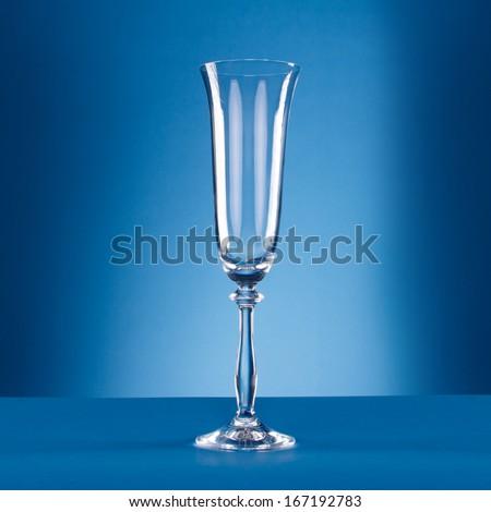 Goblet on blue - stock photo