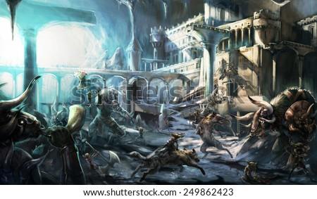 Goblin war - stock photo