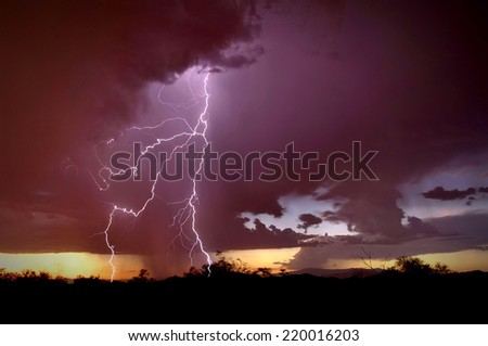 God of Glory Thunders - stock photo