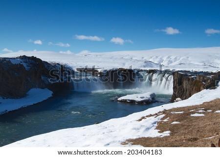 Godafoss Waterfall - stock photo