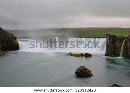 Godafoss waterfall, Iceland - stock photo