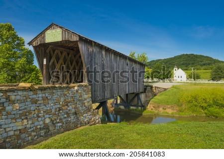 Goddard Covered Bridge, KY - stock photo