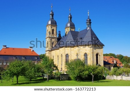 Goessweinstein church  - stock photo