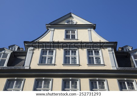 Goethe house in Frankfurt   - stock photo