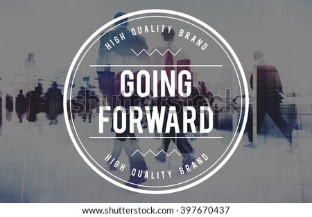 Going Forward Mission Choice Success Concept - stock photo