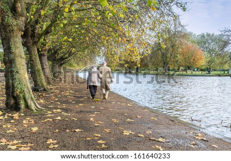 Going home for a cup of tea, its cold - stock photo