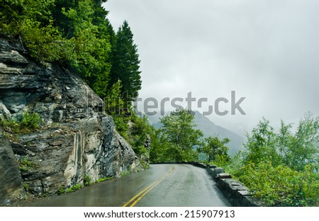 Going To The Sun Road  - stock photo